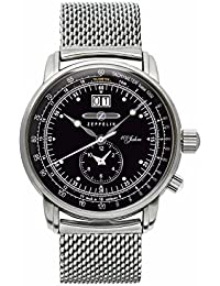 Zeppelin Herren-Armbanduhr 100 Jahre Zeppelin Analog Quarz One Size, schwarz, silber
