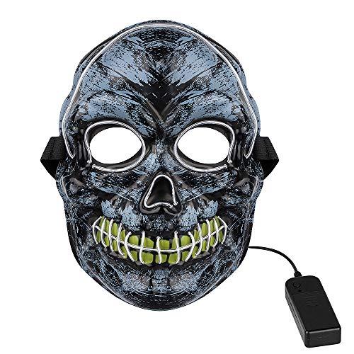 Erwachsene Halloween Partys - omitium LED Purge Maske, LED Mask