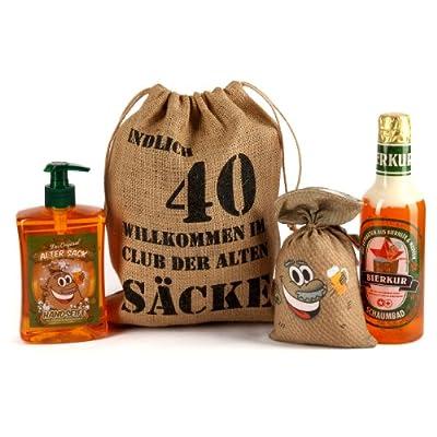 """Lustige Apotheke Geburtstagsgeschenk Set """"Bier Spa"""" zum 40. Geburtstag (4-teilig)"""