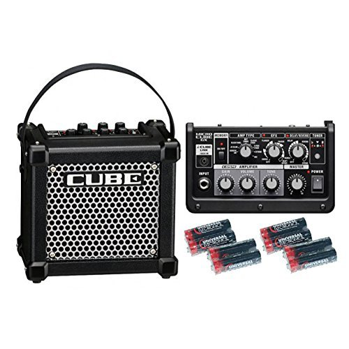 Roland Micro Cube GX 3-watt 1-channel 1x5 Battery-powered Guitar Combo Amplifier with Free 8 Universal Electronics AA Batteries