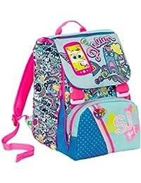 3904ff08f0 Zaino scuola sdoppiabile SJ GANG - GIRL - Azzurro Rosa - FLIP SYSTEM - 28  LT elementari e medie 3 pattine…