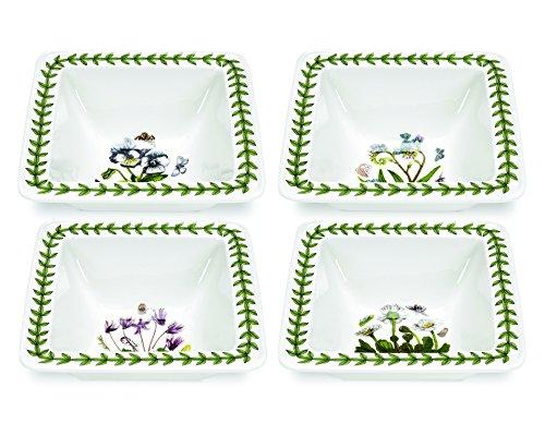 Portmeirion Botanic Garden Square Bowl, Mini, Set of 4 Portmeirion Botanic Garden Serveware