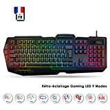 EMPIRE GAMING - Clavier Gamers K900 - Touches Semi-mécaniques- Retro-éclairage LED...