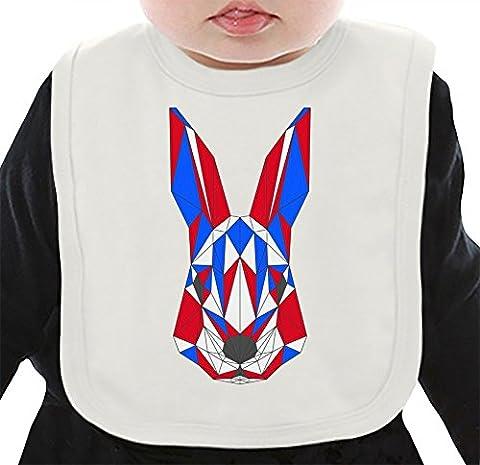 Origami Rabbit Organic Bib W/ Ties| 100% Organic Ring-Spun Combed Cotton| Soft & Comfortable Bib Made W/ Eco-Friendly Materials| Unique Baby Clothing By Bang Bangin Medium