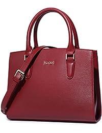 0eab4dd37 Leder Handtaschen Damen, Kadell Elegant Gross Umhängetasche Shopper Tote  Henkeltasche Frauen Schultertasche