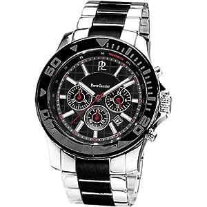 Pierre Lannier - 271C131 - Montre Homme - Quartz Chronographe - Cadran Noir - Bracelet Acier Bicolore