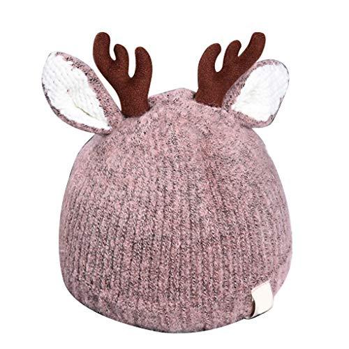 Deer Kostüm Baby - Coddington Baby Newborn Knit Antlers Beanie Cap Ski-Schädel-Kappe Weihnachten Deer-Kostüm-Hut 0-3 Jahre alt Baby-Baby-Kleinkind