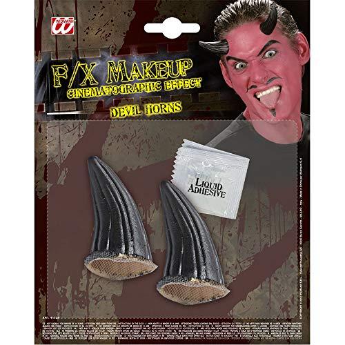 Widmann 4172N Spezial Effekt Set Teufelshörner, Unisex– Erwachsene, Schwarz