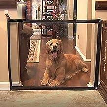 Holoras Magic Gate plegable de seguridad para mascotas, malla de aislamiento, vallas aisladas para