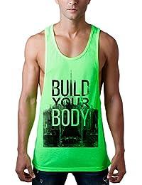Alistyle Unisex Hombres Camisetas Sin Mange Casual 3D Impreso Verano Creativo Vacaciones Hombres Tirantes