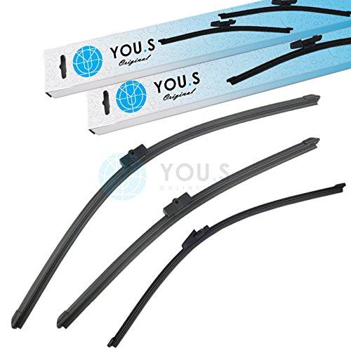Preisvergleich Produktbild YOU.S SCHEIBENWISCHER SET VORNE + HINTEN 400+600+475 mm