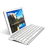 IVSO Wireless Keyboard [QWERTY layout], Ultra-Slim Wireless Keyboard with Built-in Stand for ipad