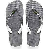 Havaianas Men's Brazil Mix Flip Flop Sandal Steel Grey/White/White 9/10 M US