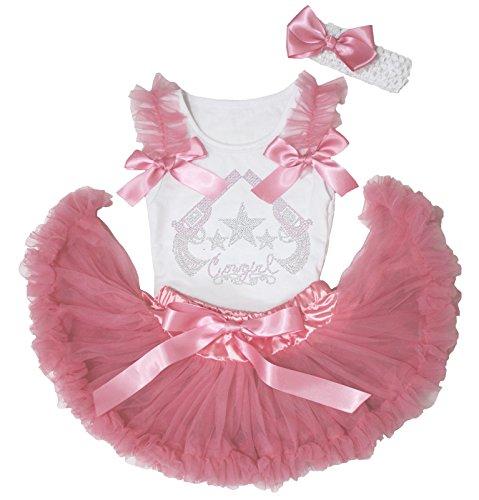 Cowgirl Kleid Strass Hat & Gun Shirt Dusty Pink Baby Rock Outfit Set 3–12M Gr. M, - Halloween-kostüme Baby Western