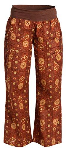 ufash Yogahose aus Baumwolle, Pumphose, mit Stretch-Bund und Zwei praktischen Taschen, S/M, Om