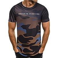 Camouflage Bluse VENMO Männer Casual Schlank Kurzarm-Shirt Top Drucken  Kurzarm Shirt Rundhalsausschnitt b3235fa4ec