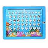 Zerodis Mini Kids Smart Learning Pad Español-Inglés Tablet Juguete Educativo Bilingüe con Luces LED cálidas Touch-and-Teach Regalo Educativo para Niños Pequeños(Azul)