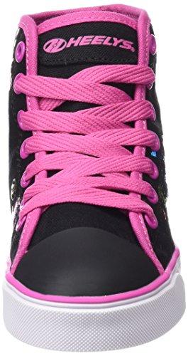 Heelys Mädchen Veloz 770557 Lauflernschuhe Sneakers, One Size Mehrfarbig (Black/Rainbow Metallic Print)