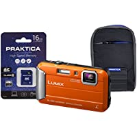 Panasonic DMC-FT30 Compact System Camera - Orange (16 GB SDHC Class 10 Card, 4x Optical Zoom)