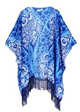 Search : Women's Floral Kimono Cover Up - Lightweight Leopard Chiffon Beachwear for Bikini,Cardigan and Swimwear
