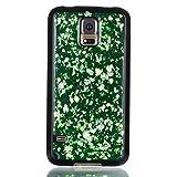 adorehouse per Samsung Galaxy S5 i9600 Copertina Sottile Cristallo Morbido Antiurto Lucido Conchiglia Ultra Magro in Forma Anti-graffio Morbido Copertina TPU Protettivo Flessibile Conchiglia - Verde