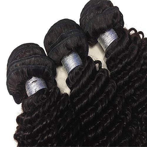 Aushöhlen Kostüm - Lockiges haar perücken menschliches haar, echtes haar perücken spitzen vorne bequem für party cosplay kostüm aushöhlen täglichen leben
