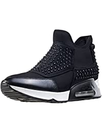 Ash Zapatos Lazer Zapatillas Negro Mujer 38 Negro