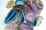 Edelsteine, acht farbige Achatscheiben, marmoriert
