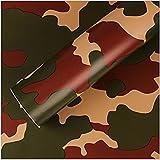 #7: Fusion 24 x 60 inch Dark Army color Vinyl Car Wrap Sheet Roll Film Sticker Decal
