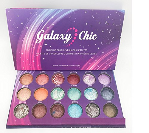 Purplerain 18 Farben Pearlescent Pofessional Lidschatten-Palette Lidschatten-Platte Kosmetik Make-up...