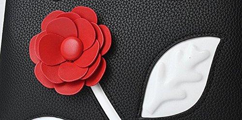 FZHLY Nuova Versione Femminile Coreana Del Sacchetto Di Spalla Di Modo Dolce Messenger,NavyBlue RubberPowder