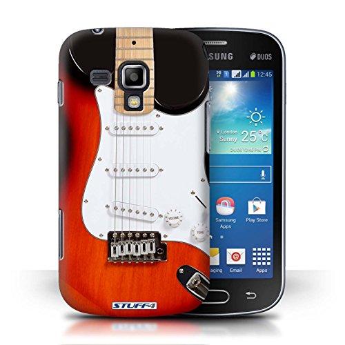 Kobalt® Imprimé Etui / Coque pour Samsung Galaxy S Duos/S7562 / Noir Electrique conception / Série Guitare Rouge Electrique
