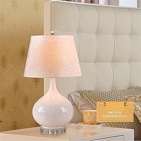 MI TIME moderne chevet chambre minimaliste nightstand européenne chinoise en céramique salon de la mode créative Lampe de