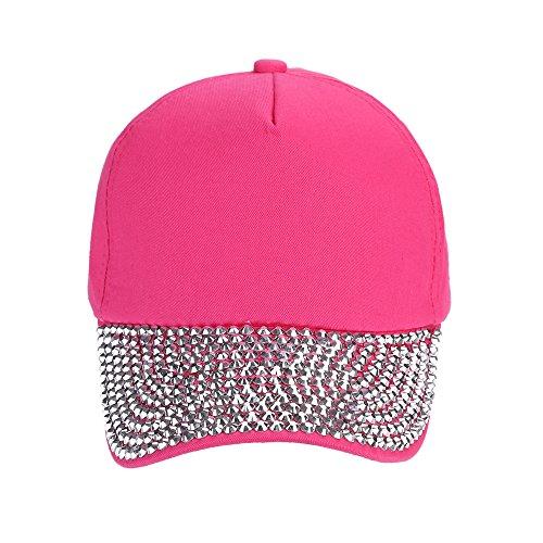 Yvelands Mode BaseballmützeRhinestone-Tatze geformter Hysteresen-Hut der Damen (Pink,One Size)