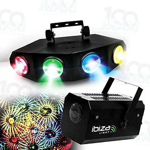 Pack 2 Jeux de lumière 132 LEDs RVBA + Effet