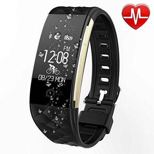 Fitness Armbänduhr,FitnessTracker,Activity Tracker Puls Sportuhr mit Pulsmesser  ,Schrittzaehler,Herzfrequenz,Schlaf-Monitor,Kalorien Bluetooth Smartband Push-Benachrichtigung für Android und IOS