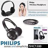 Philips 32 mm Driver Audio inalámbrico por infrarrojos auriculares de diadema cerrados SHC1300