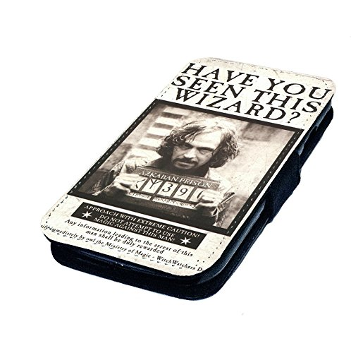 Sirrius schwarz Wanted Poster Faux Leder Flip Case Cover. Harry Potter inspiriert, Polyester, schwarz, Samsung Galaxy S2 (Inspiriert Leder Faux)