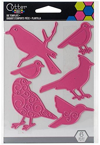 Unbekannt EK Success Birds sterben Vorlage, Metall, pink, 14x 9,5x 0,1cm