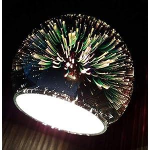 Lampenschirm 3D Effekt Feuerwerk E14 Firework Glas Ersatzglas Schirm Ersatzschirm Lampen modern stylisch future…