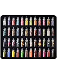 Wuyiti 48Colors Sequins Powder Stickers Nail Art Manicure DIY Nail Art Decorations Stickers & Decals