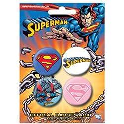 Superman Chapas Pin Set (Pack de 4 Pins) Pyramid International