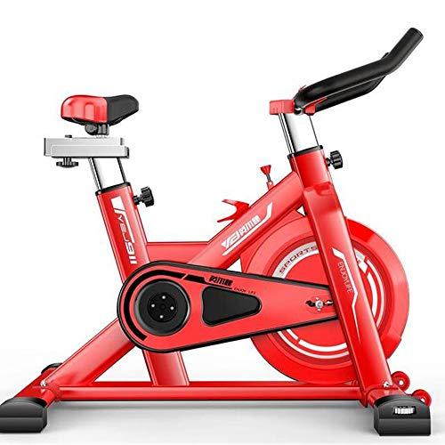 DFMD Professionelle Indoor-Heimtrainer, Familie Unisex-Gewichtsverlust Abdominal Sport Bike 360 ° Sicherheitsschutz Sportgeräte Ultra-leises Fahrrad, Schwarz, Rot, Weiß (Color : Red)