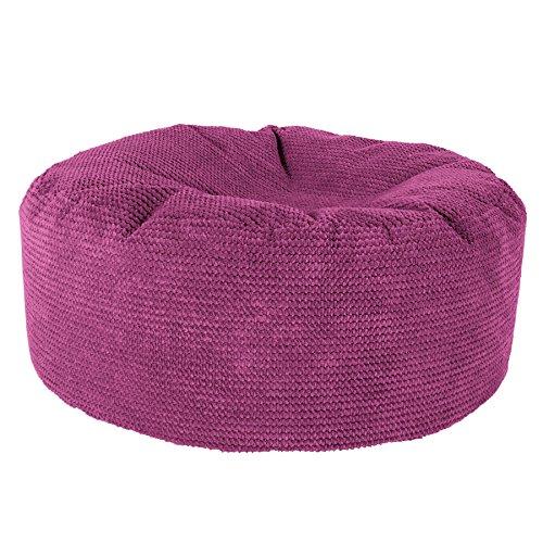 Lounge Pug®, Puff Taburete, Pompón - Rosa