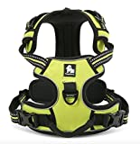 #8: PetsUp Dog Harness with 3M Reflective Dog Vest,Front Range No Pull Harness with Handle (Extra Large, Green)