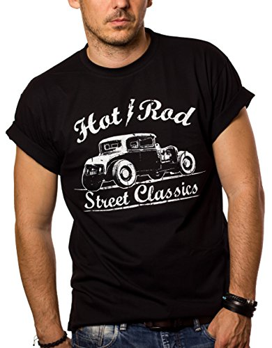 MAGLIETTA HOT ROD - T-shirt Rockabilly Uomo...