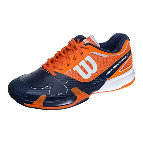 Wilson Herren Rush Pro 2.0 Clay Court Clem Turnschuhe Orange
