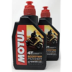MOTUL Aceite 4 Tiempos Moto Scooter Power 4T 10W-30 MB, 2 Litro (2 x 1 lt)