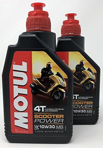 MOTUL Aceite 4 Tiempos Moto Scooter Power 4T 10W-30 MB, 2 Litro...