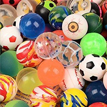 Exoh 100 pcs Couleurs mélangées Balles rebondissantes Jet Balles Papty cadeaux d'anniversaire pour enfant jouet